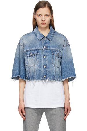 MM6 MAISON MARGIELA Indigo Denim Cropped Jacket