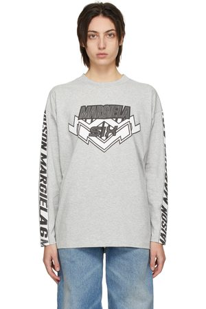 MM6 MAISON MARGIELA Grey Motocross Long Sleeve T-Shirt