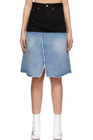 MM6 MAISON MARGIELA And Denim Contrast Skirt