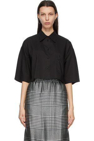 MM6 MAISON MARGIELA Poplin Cropped Short Sleeve Shirt