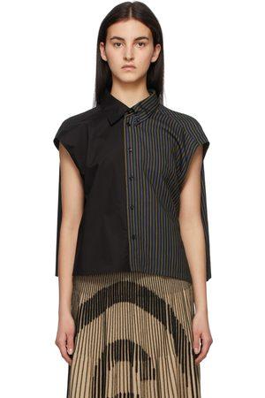 MM6 MAISON MARGIELA Paneled Stripe Shirt