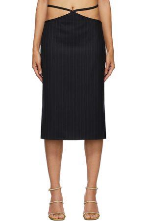 Miaou Navy Pinstripe Nadine Skirt