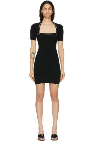 Alexander Wang Women Bodycon Dresses - Logo Trim Bodycon Dress