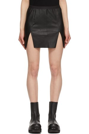 Rick Owens Leather Scari Miniskirt