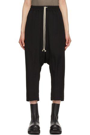 Rick Owens Silk Cropped Drawstring Lounge Pants