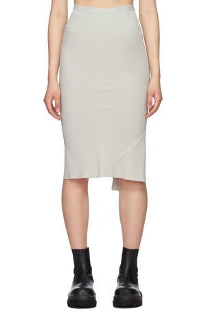 Rick Owens Grey Knee Bias Skirt