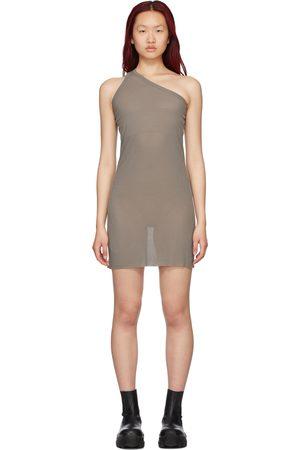 Rick Owens Women Midi Dresses - Grey Silk Anthem Dress