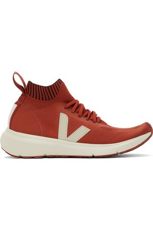 Rick Owens And Off- Veja Edition Sock Runner Sneakers