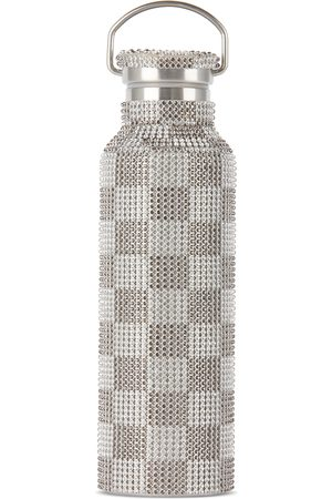 Collina Strada SSENSE Exclusive and Check Rhinestone Water Bottle, 24 oz