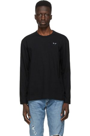 Comme des Garçons Monochrome Heart Patch Long Sleeve T-Shirt