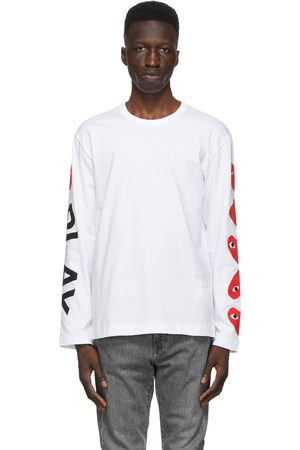 Comme des Garçons Multi Hearts Big Logo Long Sleeve T-Shirt
