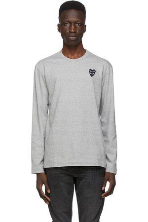 Comme des Garçons Grey Layered Double Heart Long Sleeve T-Shirt