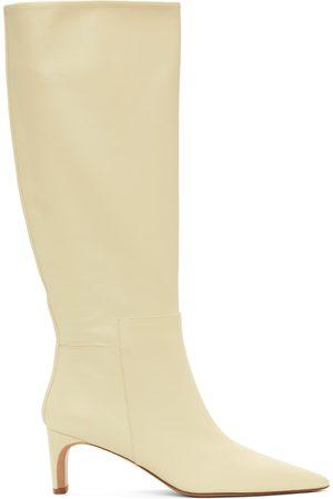 Jil Sander Off- Pointy Toe Heeled Tall Boots