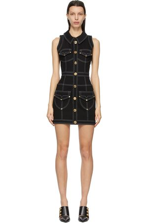 Balmain Women Dresses - Denim Short Dress