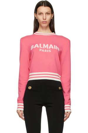 Balmain Wool Cropped Sweater