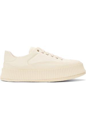 Jil Sander Off- Leather Platform Sneakers