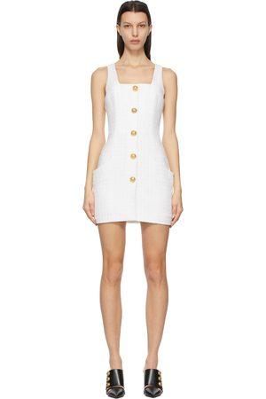 Balmain Women Dresses - Metallic Tweed Short Dress