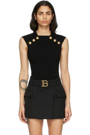 Balmain Women Tank Tops - Knit Button Tank Top