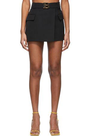 Balmain Wool Low-Rise Miniskirt