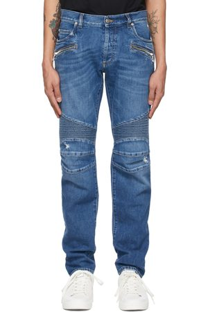 Balmain Men Tapered - Ribbed Tapered Jeans
