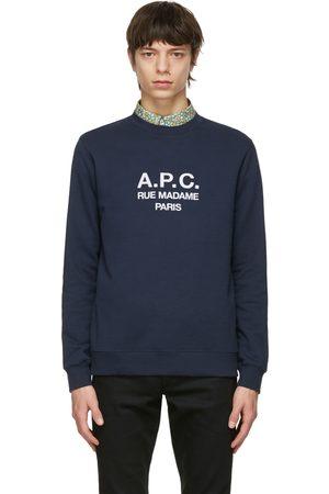 A.P.C. Men Sweatshirts - Navy Rufus Sweatshirt