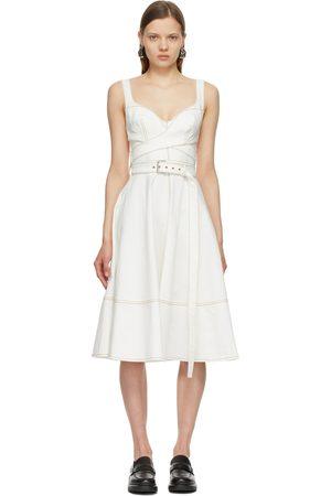 Alexander McQueen Off- Denim 50s Dress