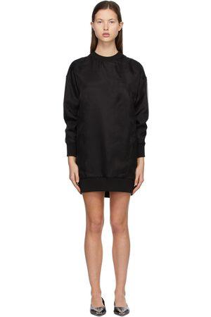 Alexander McQueen Organza Overlay Sweatshirt Dress