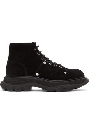 Alexander McQueen Suede Tread Lace-Up Boots