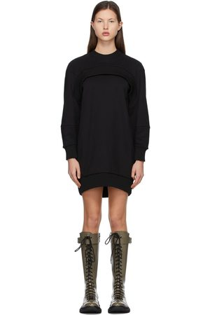 Alexander McQueen Cut-Out Sweatshirt Dress
