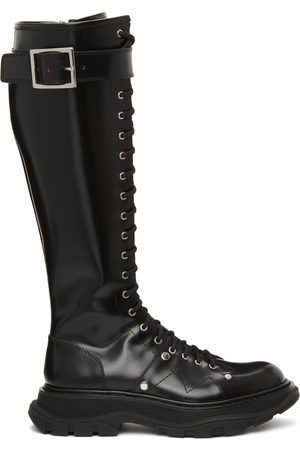 Alexander McQueen Tread Slick Lace-Up Tall Boots