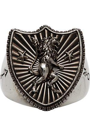 Alexander McQueen Men Rings - Lion Shield Ring