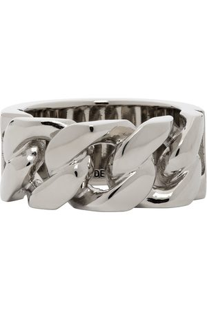 Alexander McQueen Snake and Tag Chain Ring