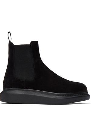 Alexander McQueen Suede Hybrid Chelsea Boots