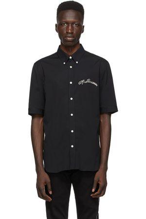 Alexander McQueen Poplin Embroidered Logo Short Sleeve Shirt