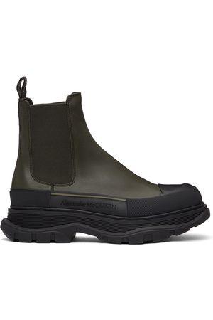 Alexander McQueen Khaki Tread Slick Chelsea Boots