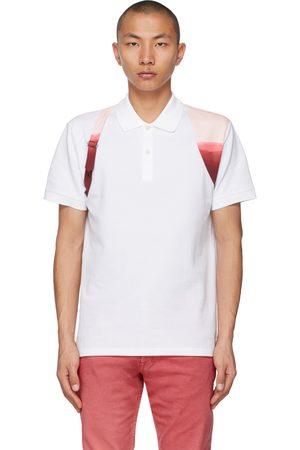 Alexander McQueen Men Polo Shirts - Printed Dip-Dye Harness Polo