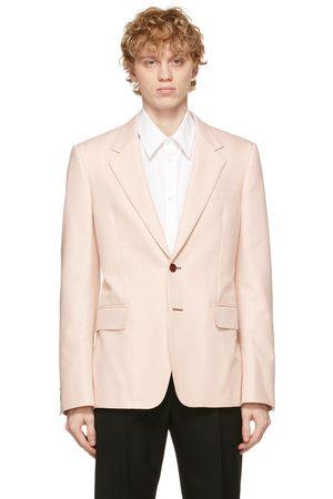 Alexander McQueen Men Blazers - Pink Cotton Blazer