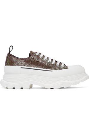 Alexander McQueen Men Sneakers - Iridescent Platform Sneakers