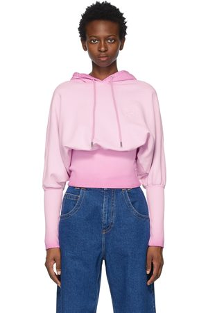 Opening Ceremony Rose Crest Fade Crop Hoodie