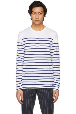 Ralph Lauren And Navy Striped Lisle Long Sleeve T-Shirt