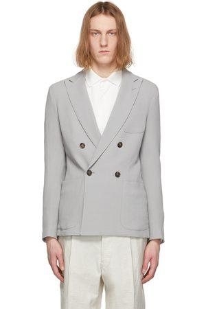 Armani Grey Wool and Viscose Mirage Blazer