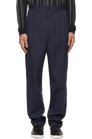 Armani Navy Gabardine Cargo Pants
