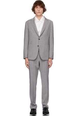 Z Zegna Grey Techmerino Wool Wash and Go Suit