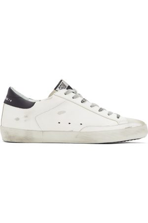 Golden Goose And Navy Dotted Super-Star Sneakers