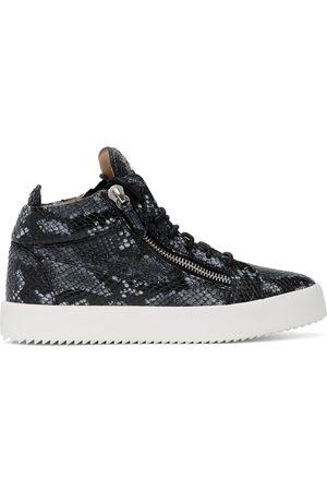 Giuseppe Zanotti Men Sneakers - Grey Python May Kriss High Top Sneakers