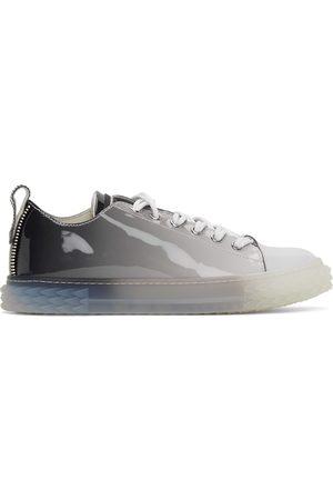 Giuseppe Zanotti Men Sneakers - Grey Patent Blabber Sneakers