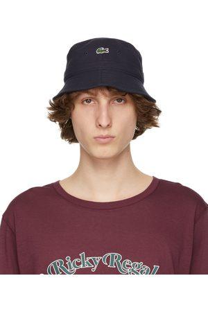 Lacoste Men Hats - Navy Canvas Bucket Hat