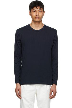 Comme des Garçons Men Long Sleeve - Navy Forever Long Sleeve T-Shirt