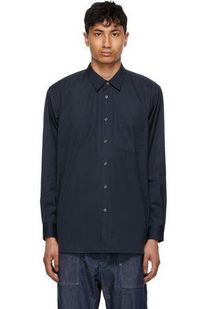 Comme des Garçons Men Shirts - Navy Poplin Forever Shirt