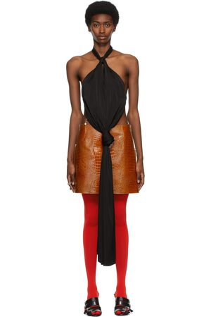 Givenchy Women Backless Tops - Open Back Knotted Halter Top